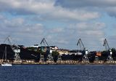 Helsinki shipyard Stock Images