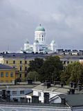Helsinki skyline. With white cathedral Royalty Free Stock Photos