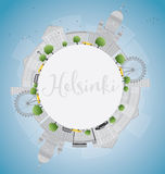 Helsinki skyline with grey buildings and copy space. Stock Photo