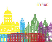Helsinki skyline pop Royalty Free Stock Image