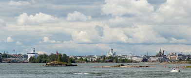 Helsinki skyline from the sea Stock Image