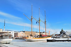 Helsinki.  South Harbor Royalty Free Stock Images
