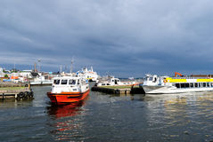 Helsinki. South Harbor before the storm Royalty Free Stock Image