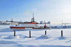 Helsinki. South Harbor in winter Royalty Free Stock Image
