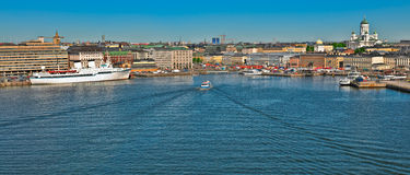 Helsinki south harbour coastline stock image