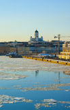 Helsinki spring landscape with Tuomiokirkko Stock Images