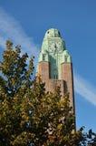 Helsinki stone clock tower. Finland Helsinki stone sculpture clock tower Stock Photography