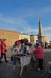Helsinki street selling Royalty Free Stock Images