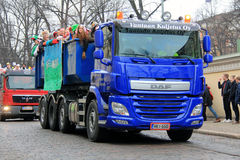 Helsinki Students Celebrate Penkkarit on Parade Royalty Free Stock Photography