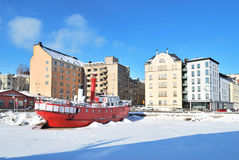 Helsinki in a sunny winter day Royalty Free Stock Photo