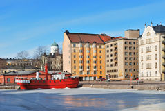 Helsinki in a sunny winter day Stock Photo