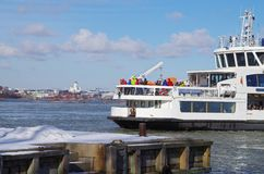 Helsinki Suomenlinna ferry Royalty Free Stock Photography