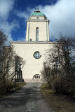Helsinki Suomenlinna island. Lighthouse church, Finland Stock Photos