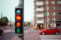 Helsinki, traffic light on the street royalty free stock images