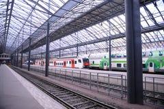 Helsinki train station Stock Photo