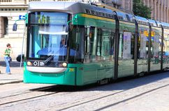 Helsinki tram Stock Photos