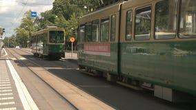 Helsinki Tramway stock video footage