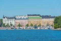 Helsinki, typische huizen stock fotografie