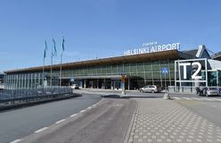 Helsinki Vantaa lotnisko Finlandia Fotografia Stock