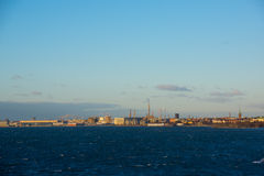 Helsinki view from the Baltic sea Stock Photo
