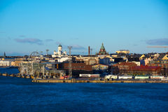 Helsinki view from the Baltic sea Royalty Free Stock Image