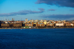 Helsinki view from the Baltic sea Stock Image