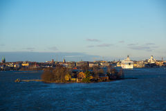 Helsinki view from the Baltic sea Stock Photography