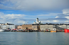 Helsinki view with cathedral stock images