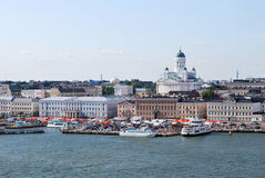 Helsinki. View from the sea stock image