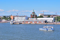 Helsinki. View from the sea Royalty Free Stock Image