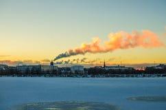 Helsinki während der Winterzeit stockfoto