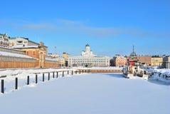 Helsinki in winter Royalty Free Stock Photo