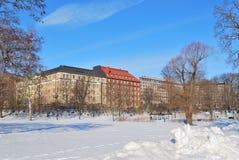 Helsinki in winter Stock Image