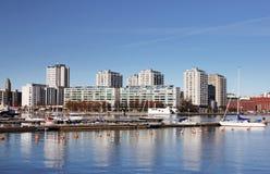 Helsinki, zona residenziale di Merihaka Fotografie Stock