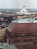 Helsinky aerial view. With roofs and Cathedral Royalty Free Stock Photography