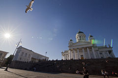 Helsinky Kathedrale Stockfoto