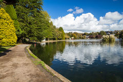 Helston Boating Lake Royalty Free Stock Photography