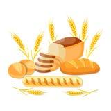 helt brödjpgvete stock illustrationer