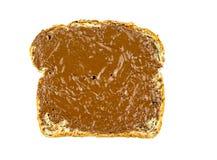 Helt veterostat bröd med chokladhasselnötspridning Royaltyfria Foton