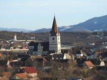 Heltau fortificó la iglesia Fotos de archivo