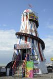 Helter Skelter on Brighton Pier. England Stock Images