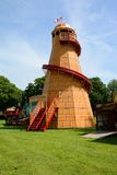 Helter skelter at closed fairground Stock Photography