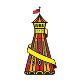 Helter skelter. A colourful Helter skelter image Stock Photo