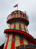 Helter Skelter at a funfair. A nostalgic colourful helter skelter at a funfair in Gloucester England Stock Photo