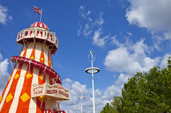 The Helter Skelter in the Queen Elizabeth Olympic Park in London. LONDON, UK - MAY 15TH 2014: The Helter Skelter located in the Queen Elizabeth Olympic Park in Royalty Free Stock Image