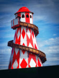 Helter Skelter. In red and white Royalty Free Stock Images
