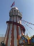 Helter Skelter Ride for Children. Helter Skelter Bournemouth Seafront Dorset Stock Images