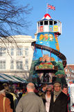 Helter skelter at a victorian fair. Royalty Free Stock Photography