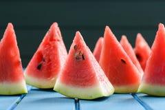 Helthy, освежая закуска лета Свежий яркий сочный арбуз s Стоковые Фото
