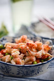 Helthy salad, asian style crayfish and edamame Stock Image